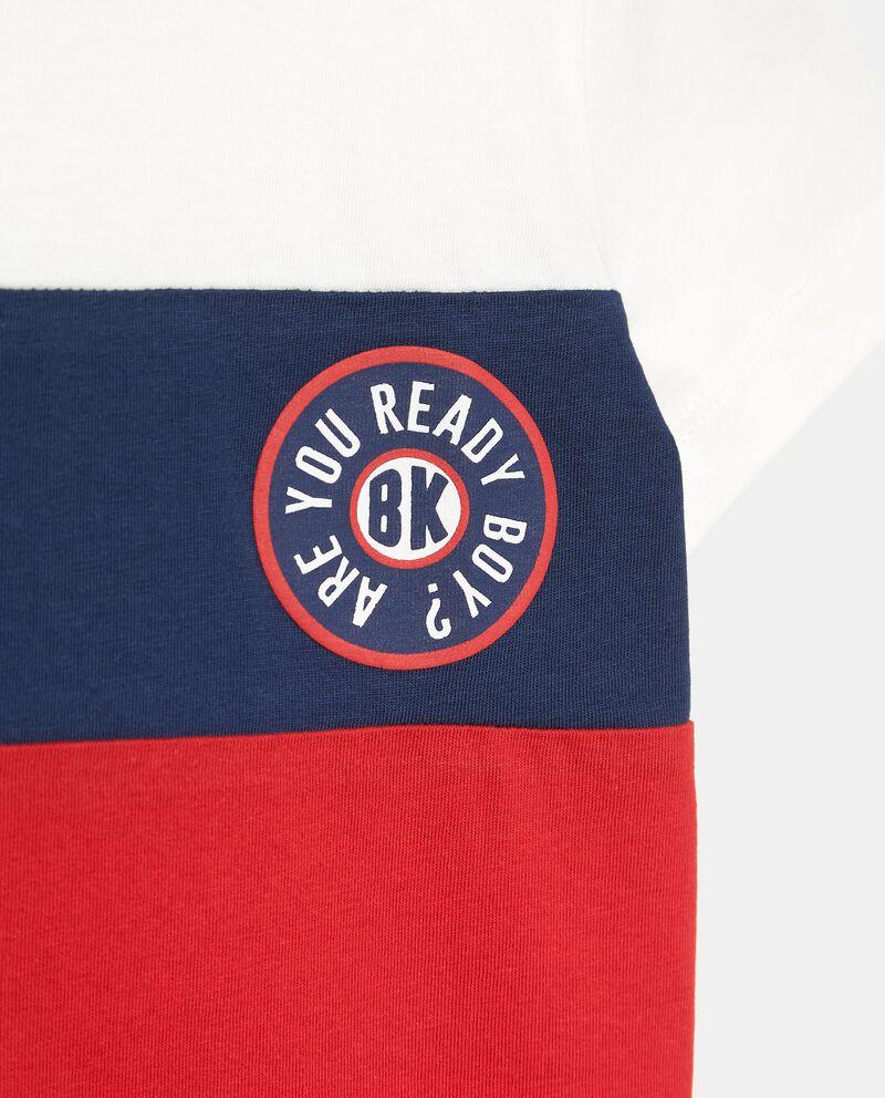 T-shirt in cotone organico jersey con stampa bambino