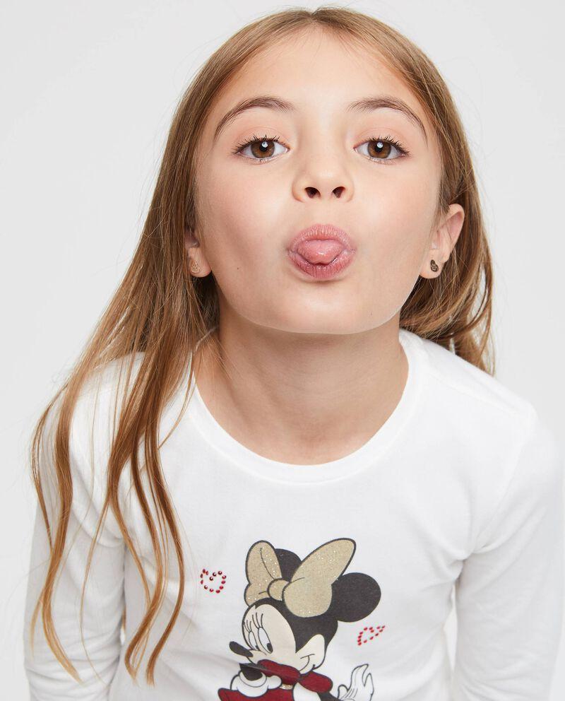 T-shirt maniche lunghe stampa Minnie