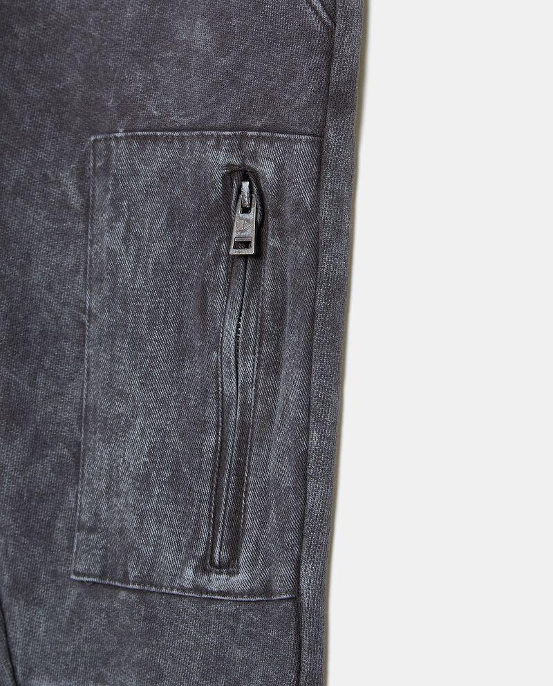 Pantalone cargo in cotone organico lavaggio stone bambino single tile 1