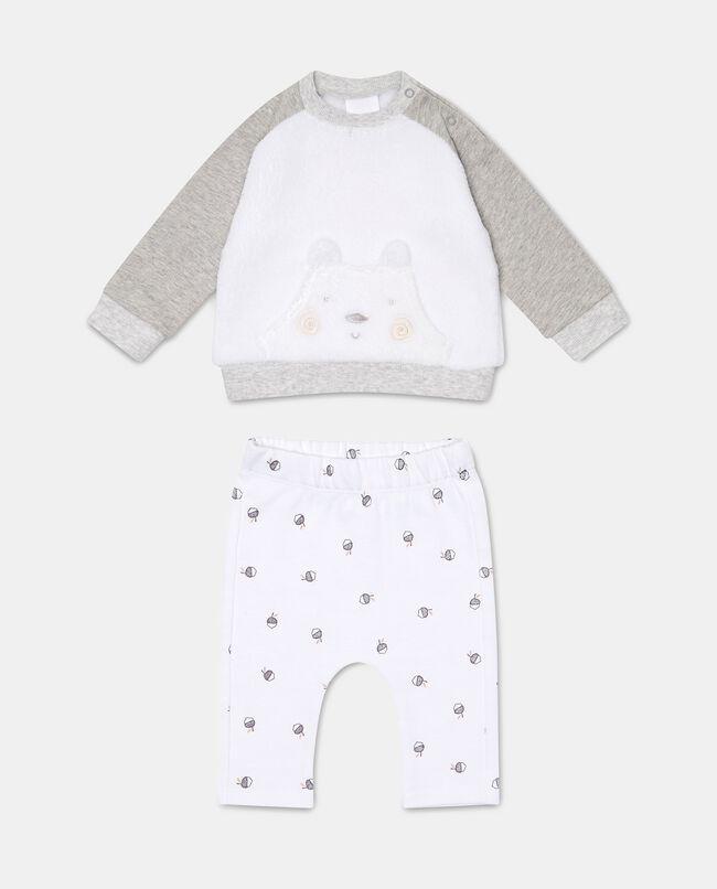 Tutina cotone felpa e pantaloni