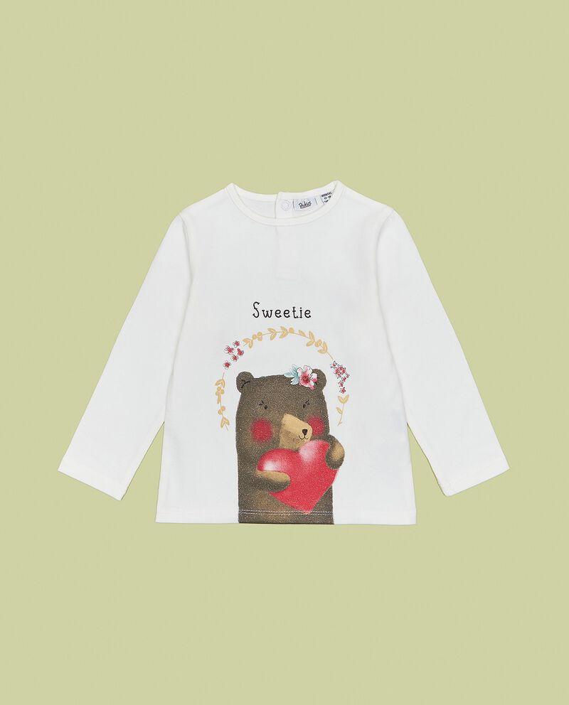 Maglia con stampa orsetto neonata