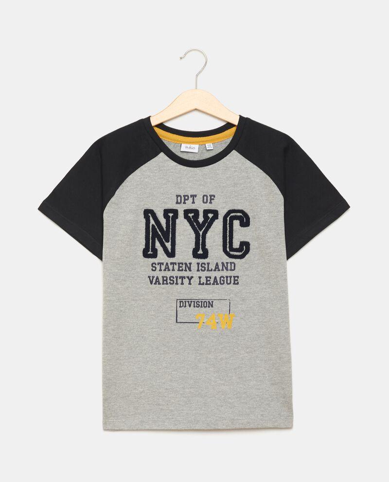T-shirt in jersey con applicazione ragazzo cover