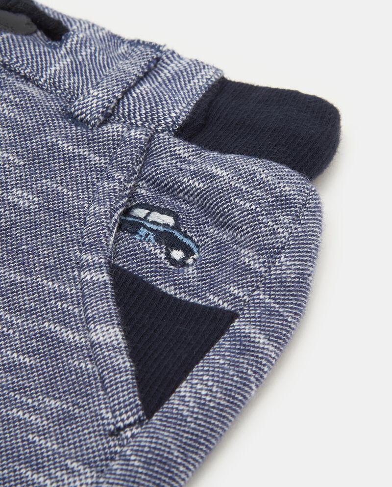 Pantaloni mélange patch macchina