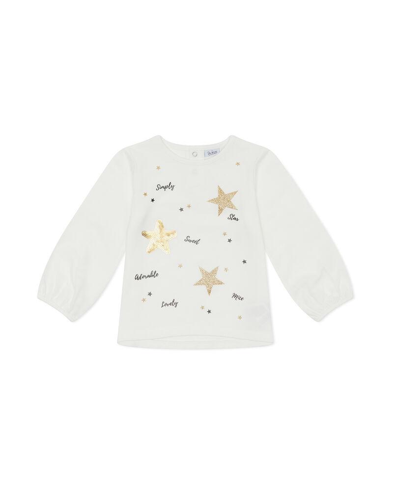T-shirt stelle glitterate e paillettes