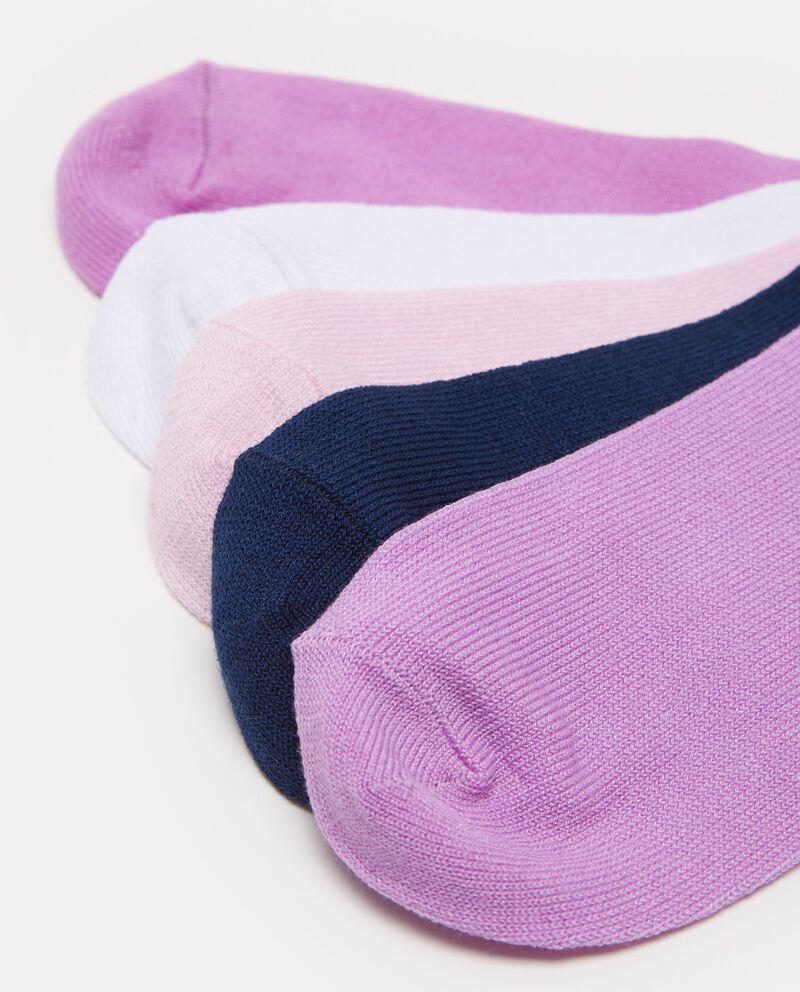 Set cinque paia di calze con passamaneria