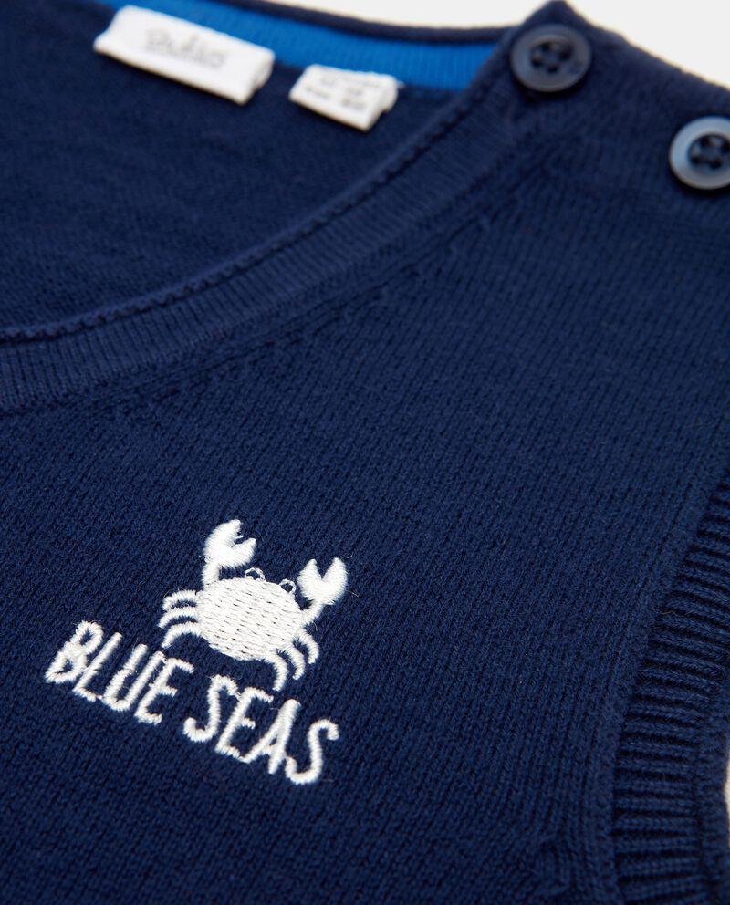 Gilet in maglia in puro cotone neonato