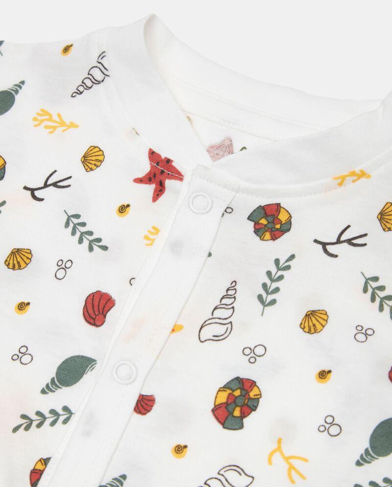 Tutina stampata in jersey cotone organico neonato single tile 1
