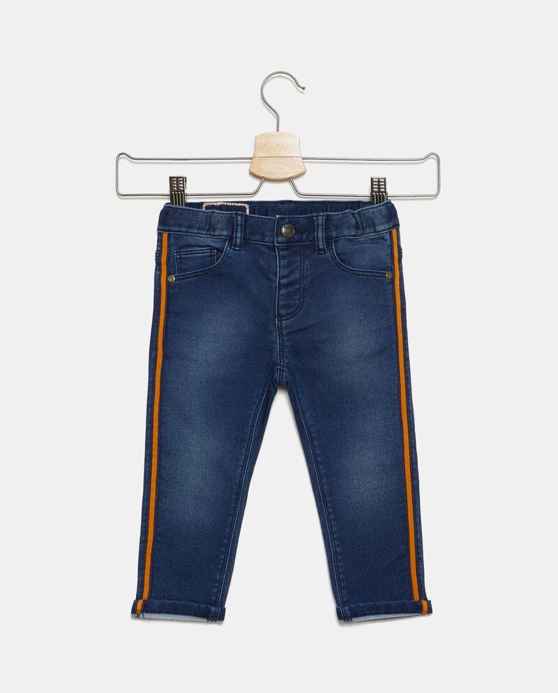 Jeans con bande laterali neonato