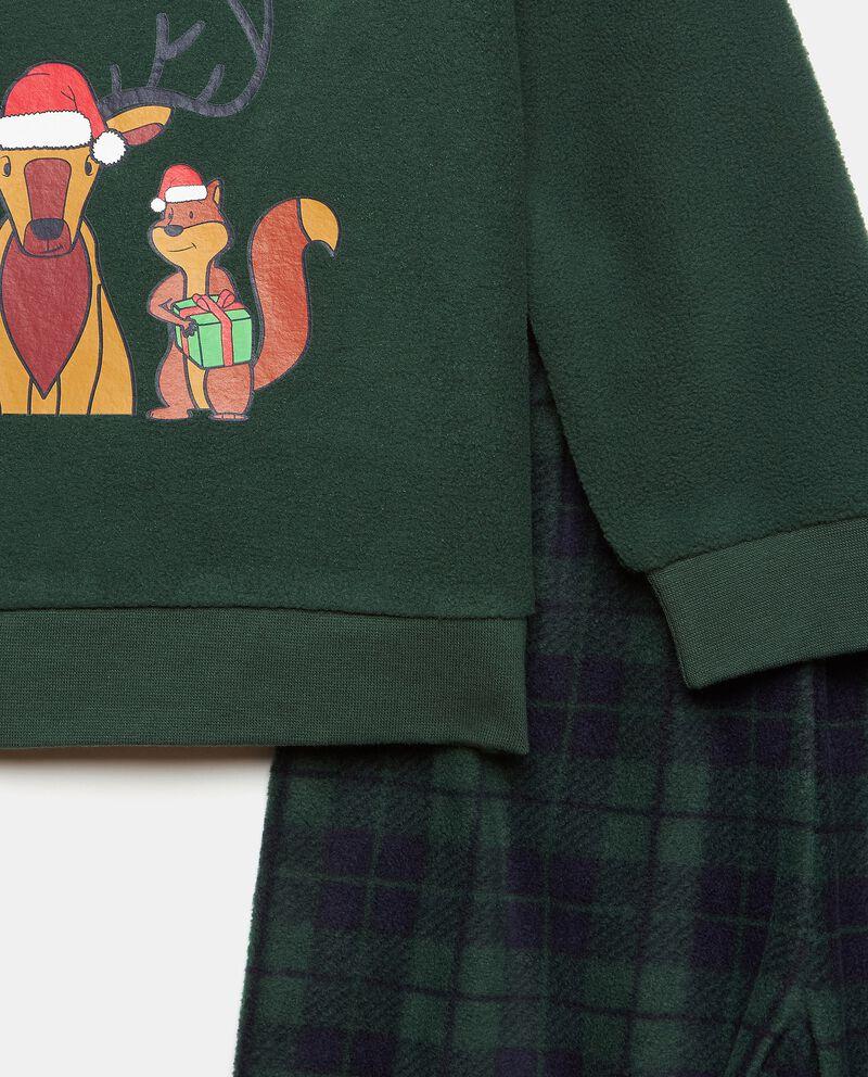 Set pigiama con maglia stampa e pantaloni a quadri