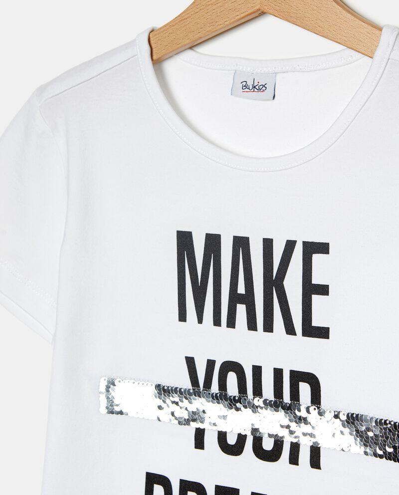 T-shirt a maniche corte con paillettes ragazza