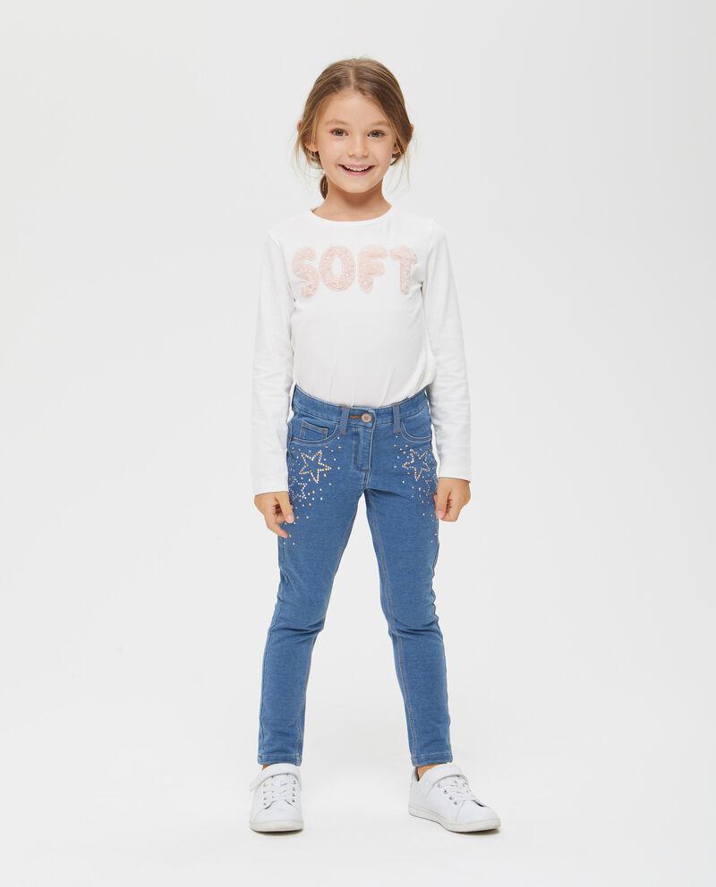 Jeans stretch con borchie