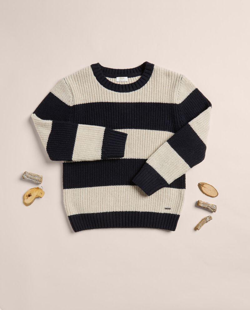 Maglioncino a righe misto lana e cotone IANA cover