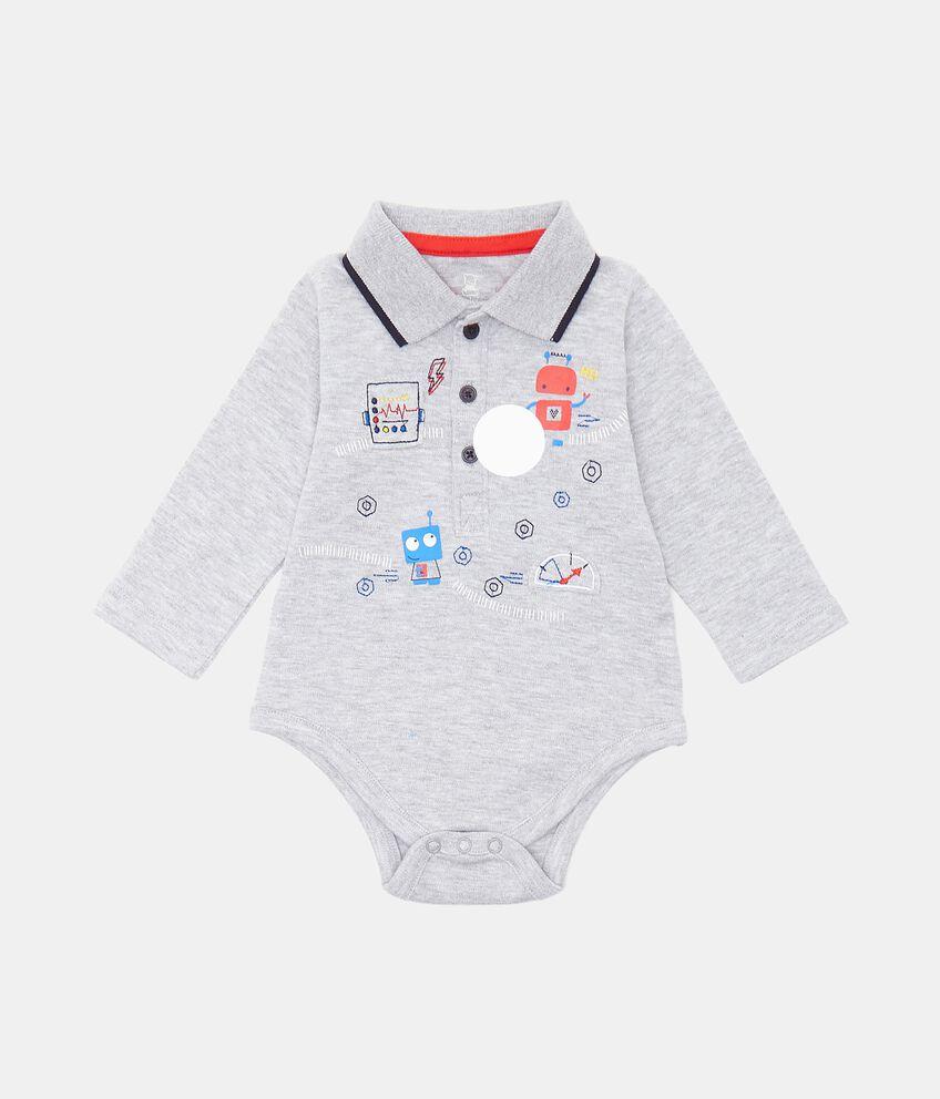 Camicia body con stampe neonato double 1