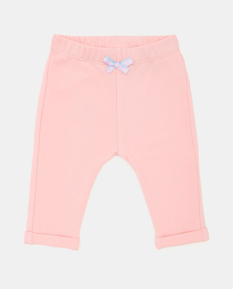 Pantaloni in tinta unita neonata
