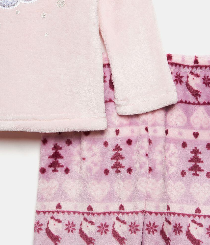 Set pigiama morbido con fantasia natalizia