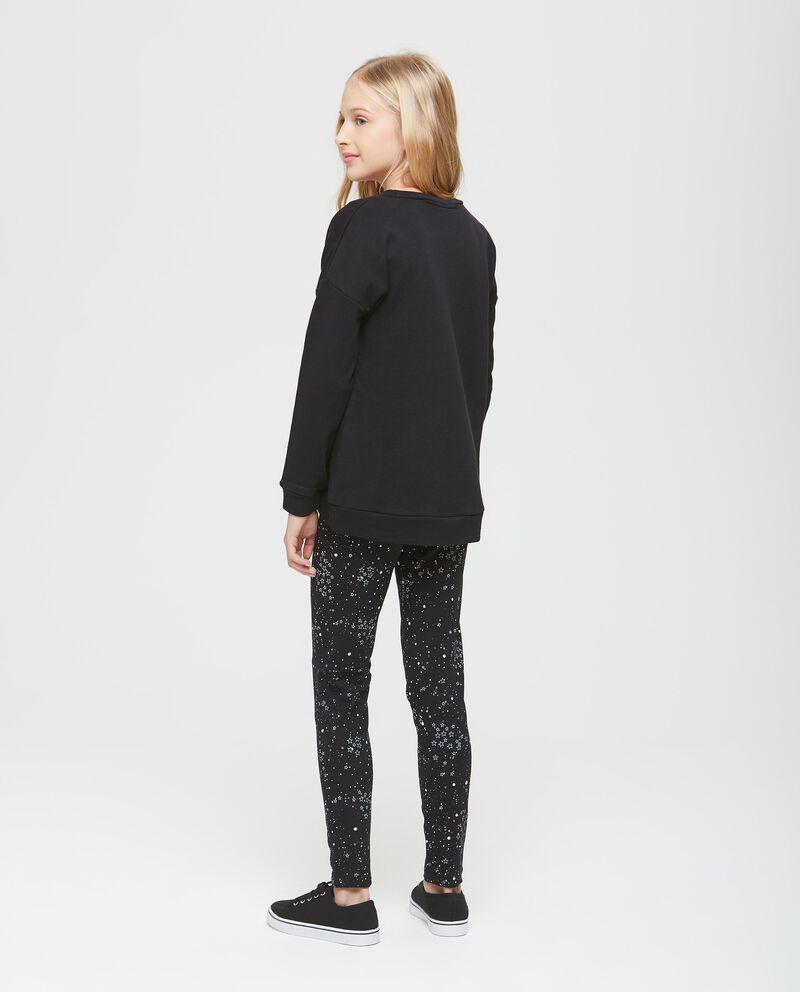 Pantaloni elasticizzati in cotone neri