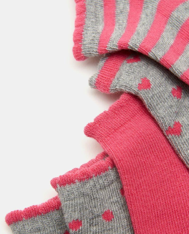 Set con 5 paia di calzini in cotone stretch bambina
