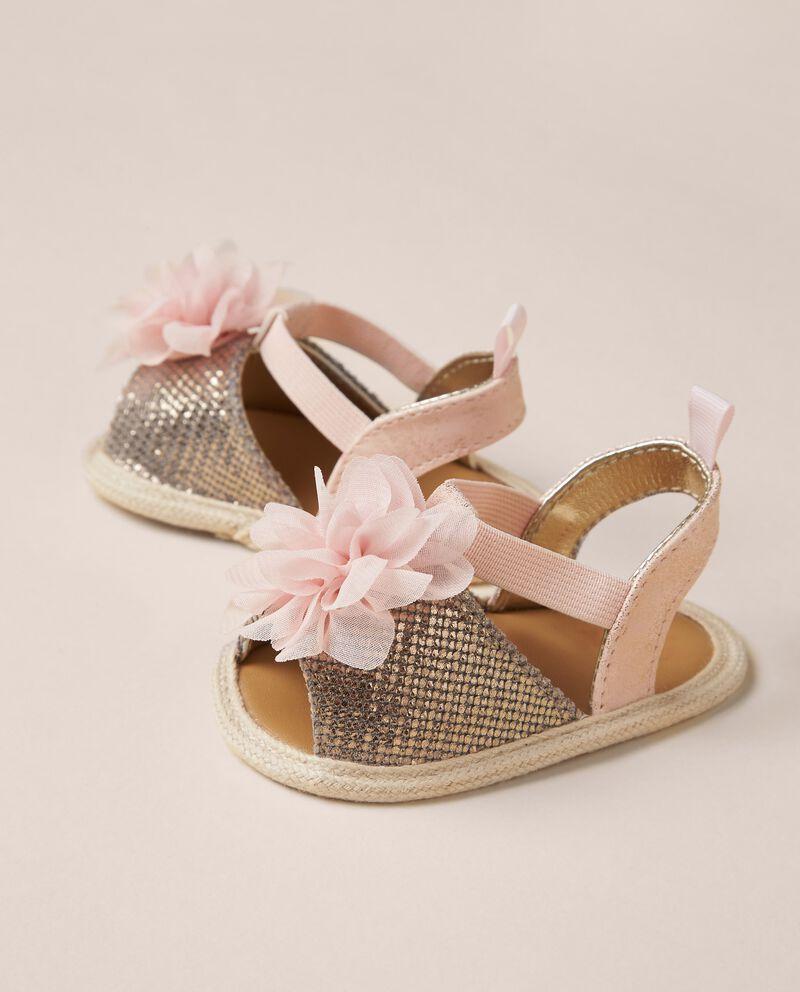 Sandali con fiori applicati single tile 1