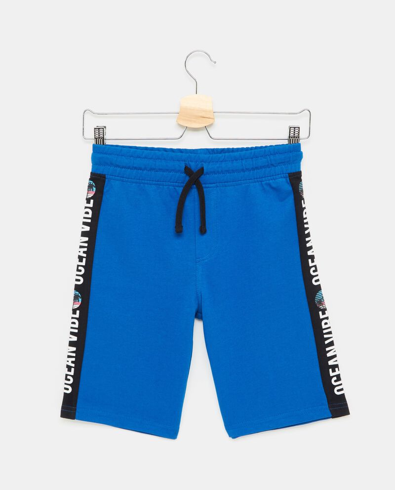 Shorts con coulisse bande e stampa