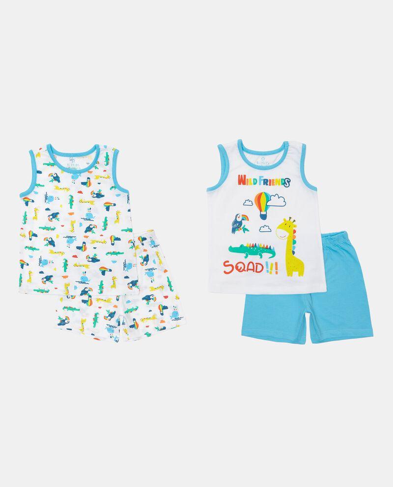 Bipack 2 pigiami in cotone jersey neonato cover