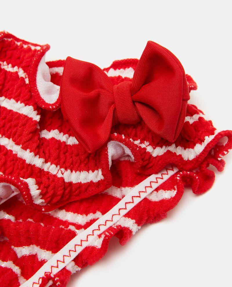 Costume slip goffrato a righe neonata