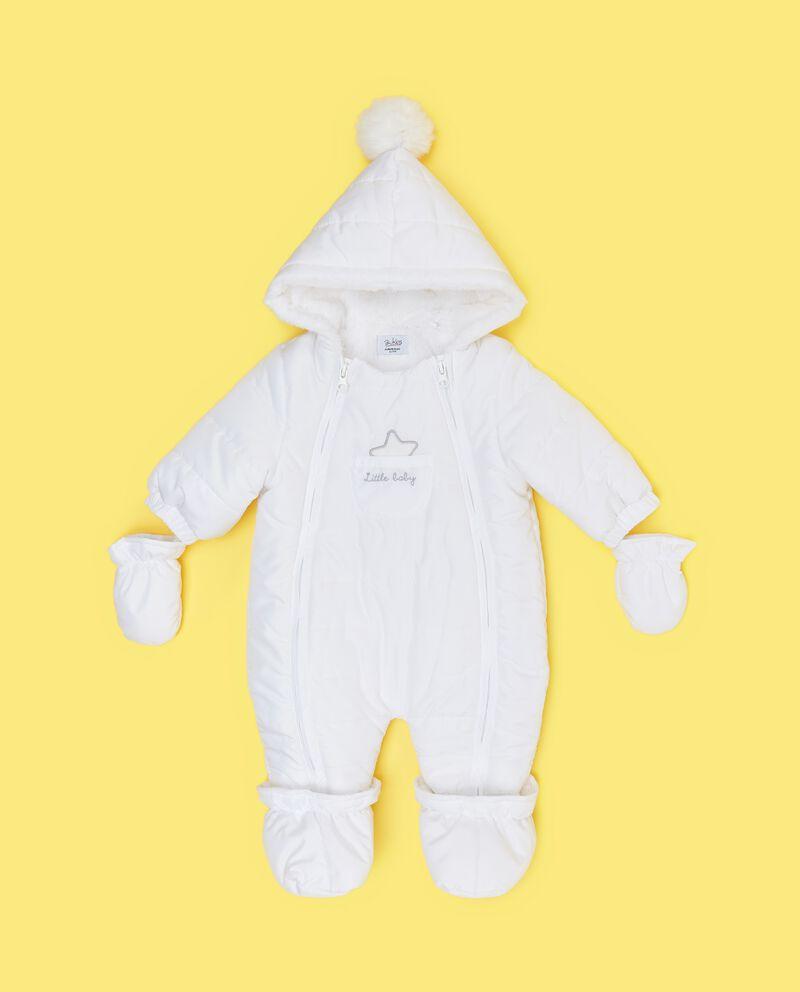 Tutina imbottita con guanti e piedini neonato