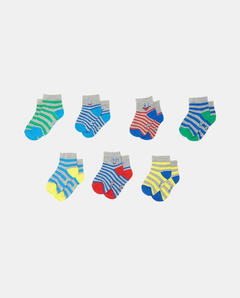 Set con 7 paia di calzini di cotone organico bambino cover