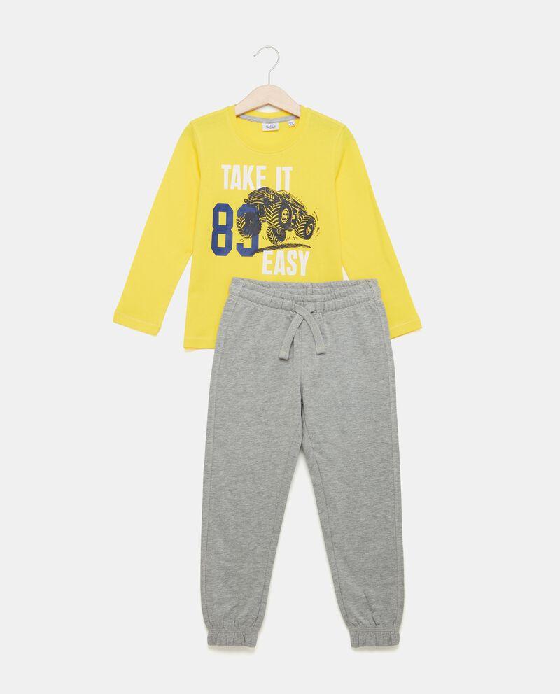 Set jogging maglia con pantaloni