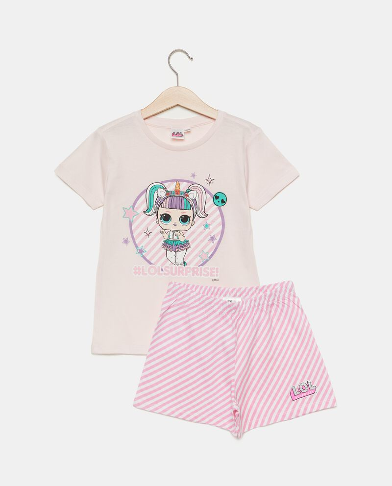 Set pigiama in puro cotone con stampa cartoni bambina
