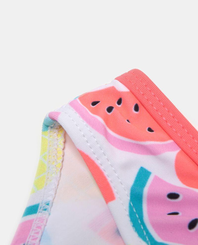 Bikini slip e fascia fantasia frutta