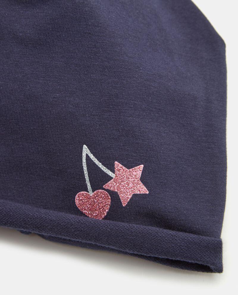 Cappellino con stampa in glitter