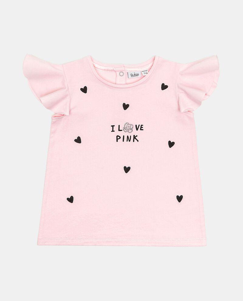 T-shirt con maniche ad aletta in cotone organico neonata