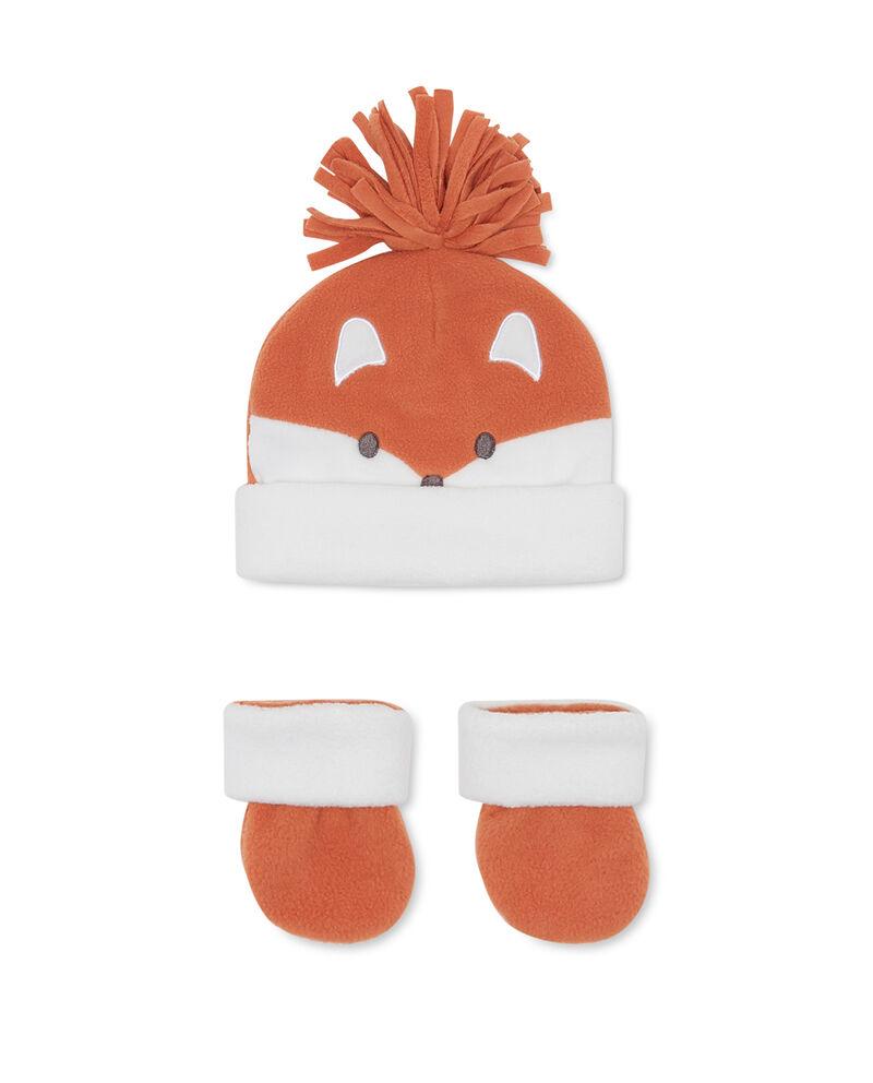 Completo cappello e scarpine volpe