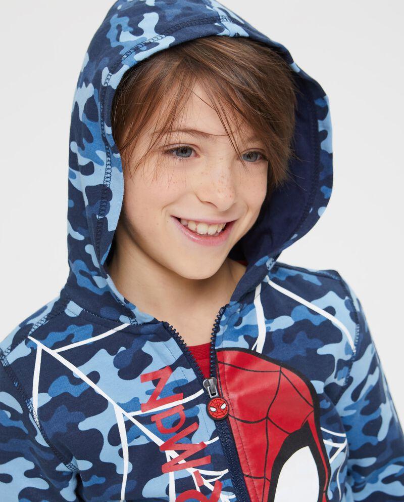 Felpa camouflage stampa Spiderman