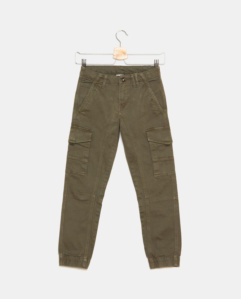 Pantaloni in tinta unita cargo ragazzo