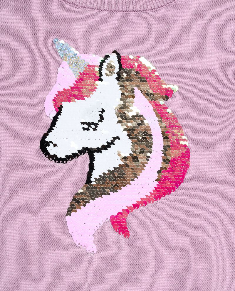 Pullover tricot con unicorno bambina single tile 1