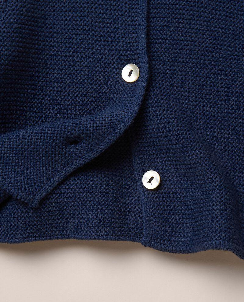 Cardigan di maglia di puro cotone single tile 1