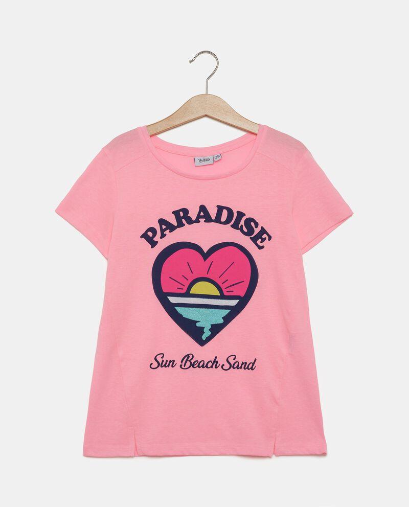 T-shirt con stampa ragazza