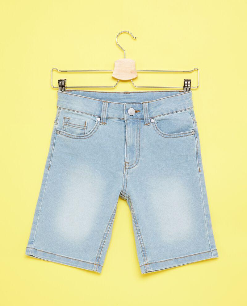 Jeans cinque tasche in cotone misto poliestere ragazzo