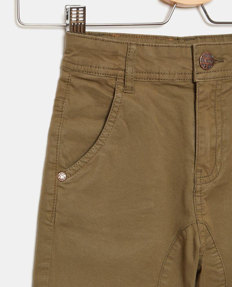 Pantalone chino in cotone stretch bambino