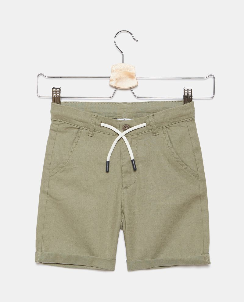 Shorts in misto lino con coulisse bambinodouble bordered 0