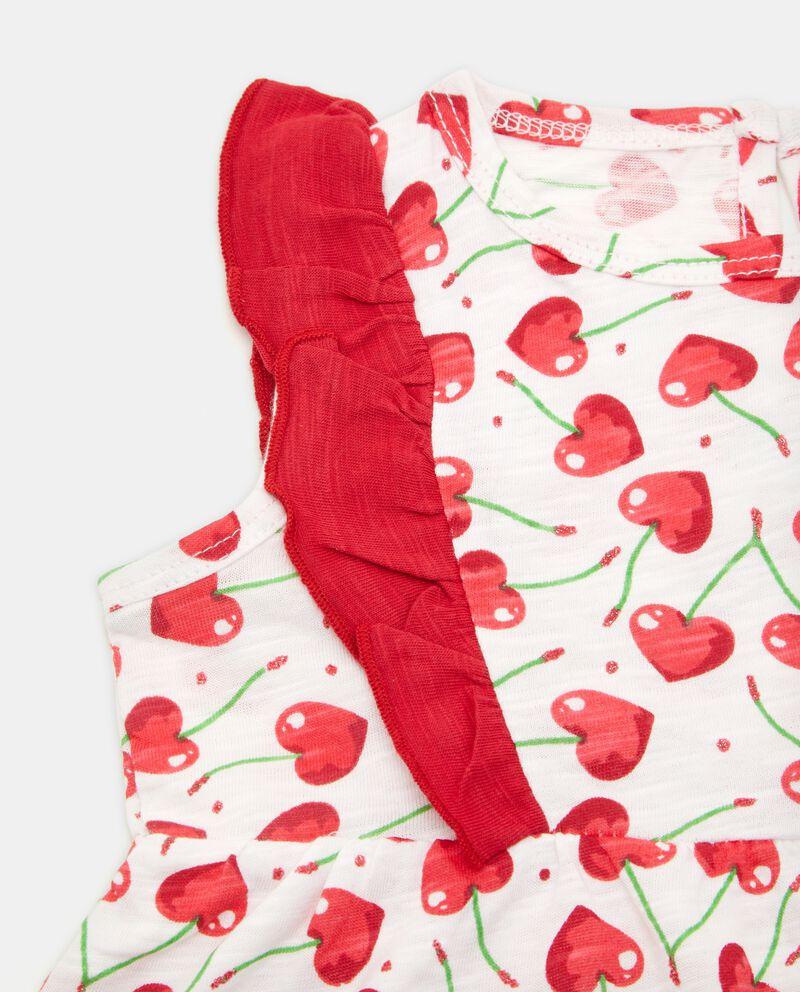 Vestitino in puro cotone con fantasia neonata