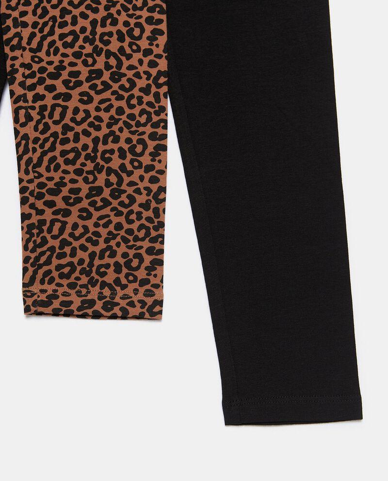 Bipack con 2 leggings di cotone biologico stretch ragazzadouble bordered 1