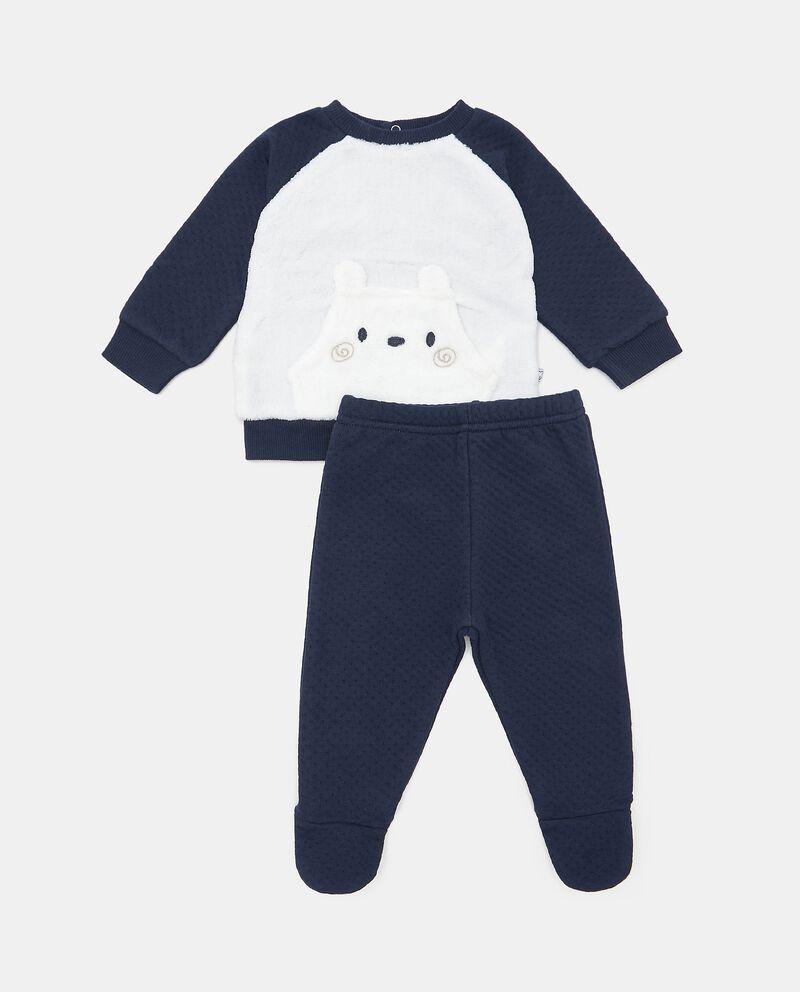 Completino con maglia e pantaloni in tinta unita