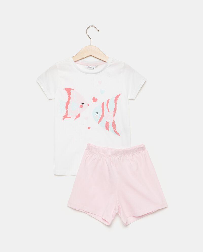 Set pigiama con stampa in puro cotone bambina