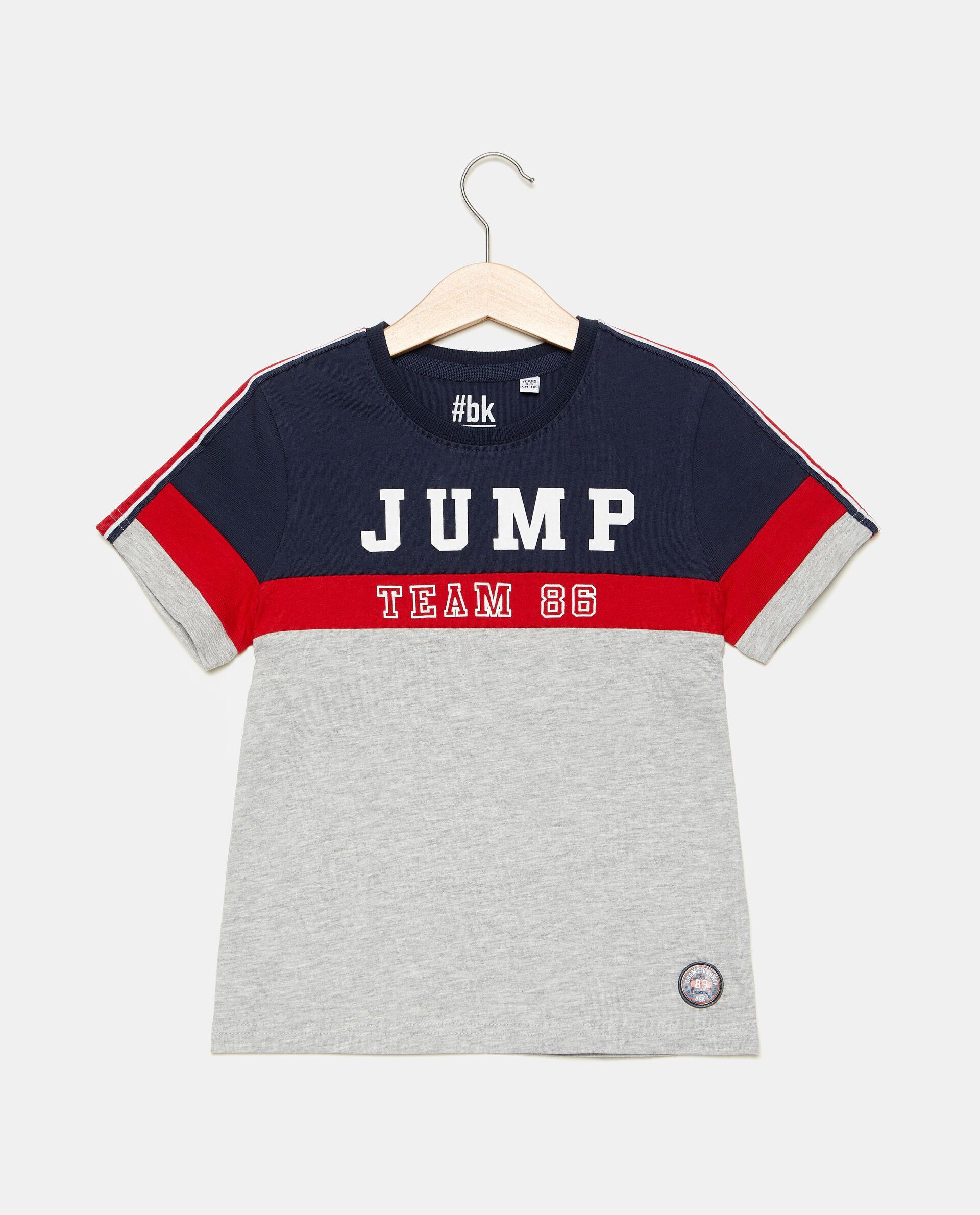 T-shirt con bande colorate bambino