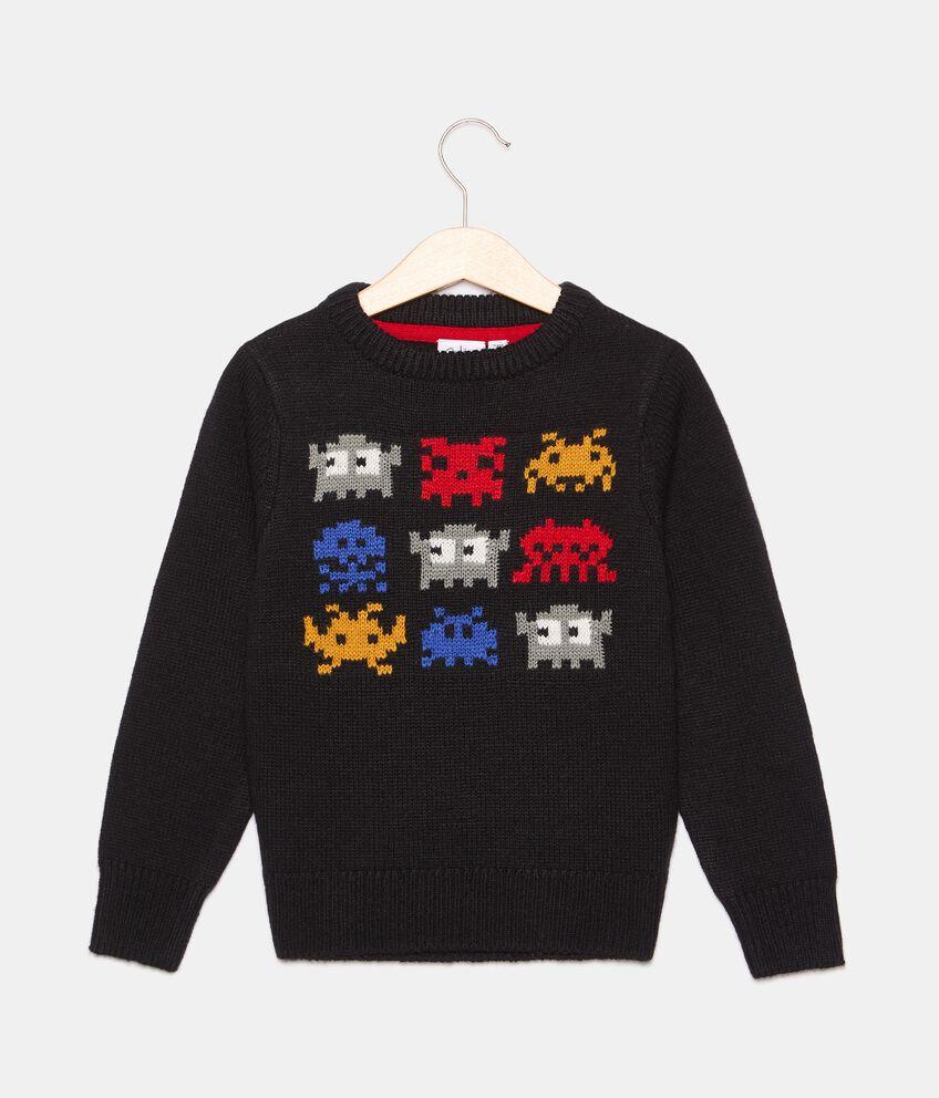 Girocollo tricot in misto lana bambino double 1