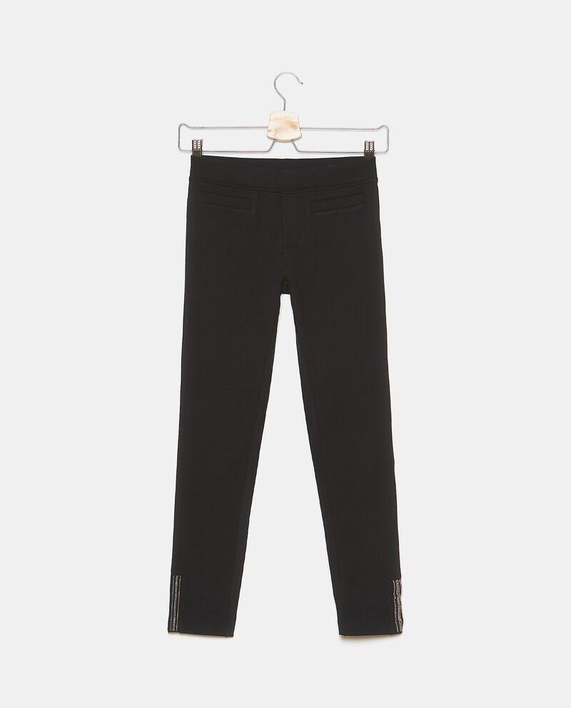 Pantaloni con strass sul fondo ragazza