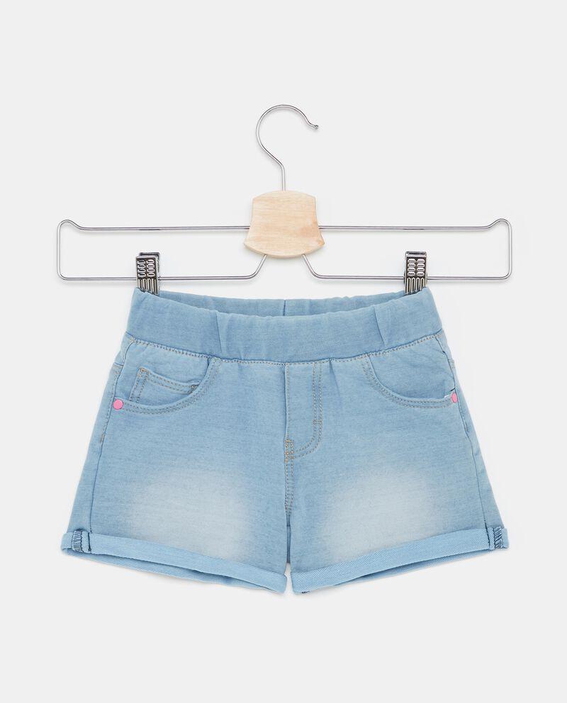Shorts effetto denim con fascia elastica bambina