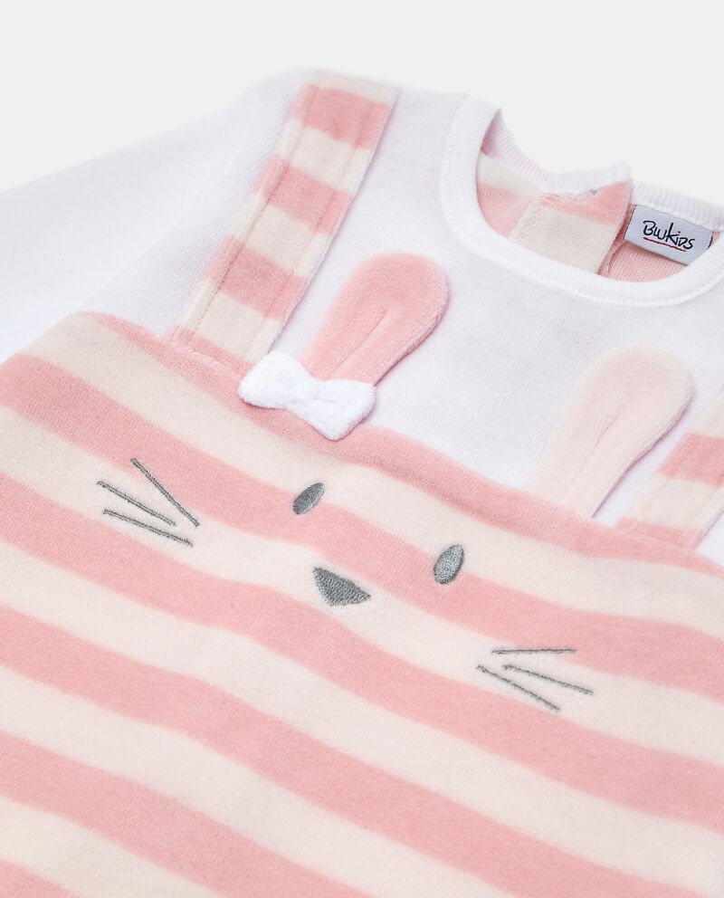 Tutina pigiama a righe in cotone biologico neonata